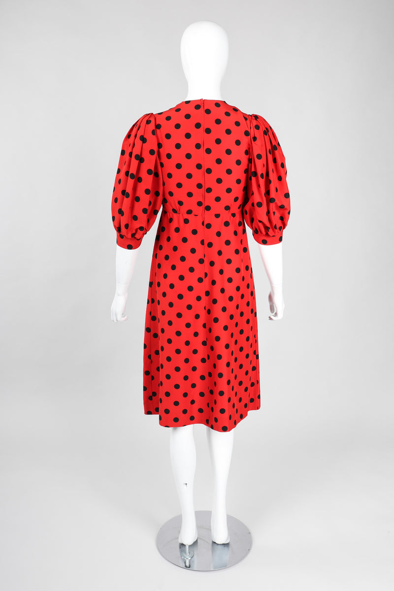 Recess Los Angeles Vintage YSL Yves Saint Laurent Sweetheart Polka Dot Dress Minnie Mouse