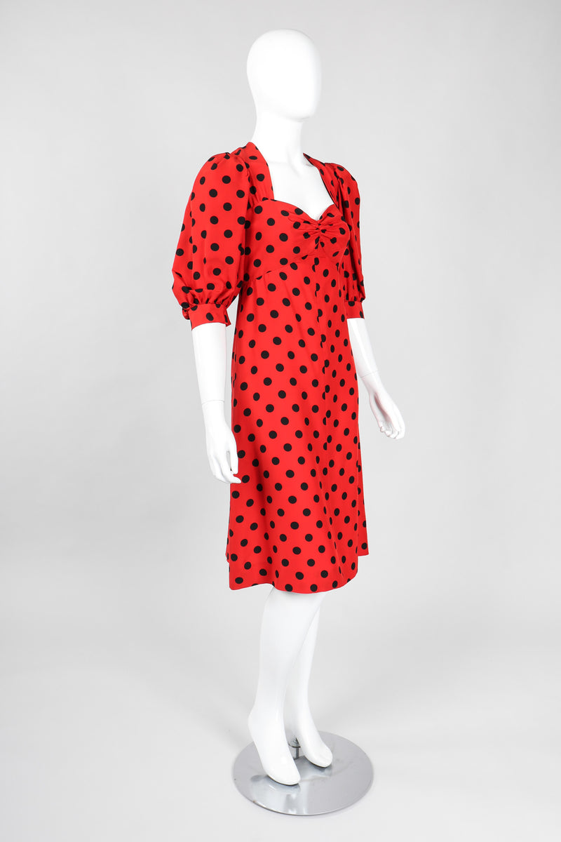 Recess Los Angeles Vintage YSL Yves Saint Laurent Sweetheart Polka Dot Dress Liberation Collection Minnie Mouse