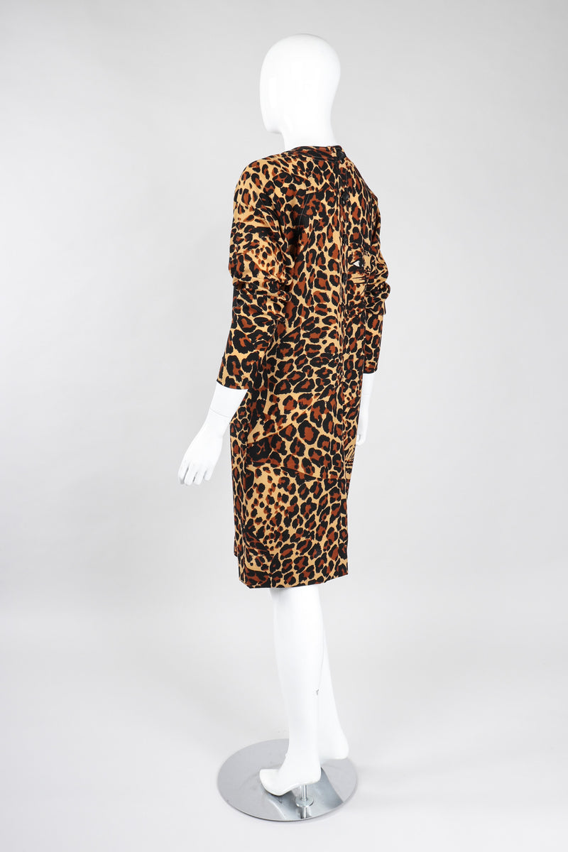 Recess Los Angeles Vintage YSL Yves Saint Laurent Rive Gauche A/W 1986 Leopard Print Wool Shift Dress