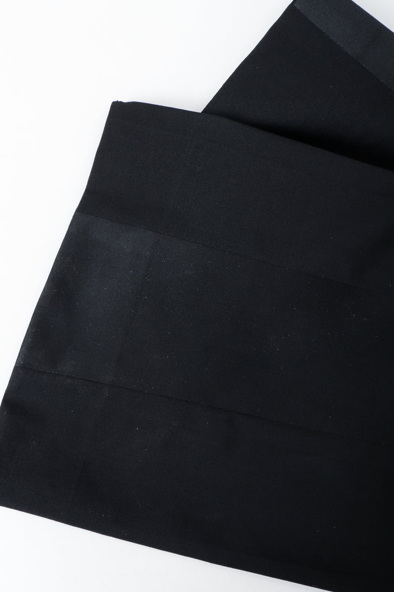 Vintage YSL Saint Laurent Black Clean Waist Tuxedo Trouser leg opening