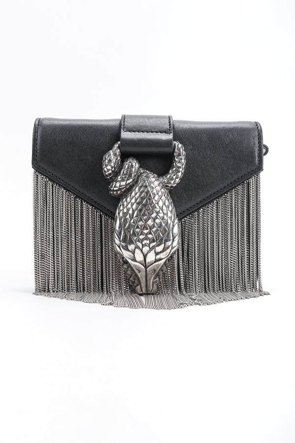 Recess Designer Consignment Vintage Yves Saint Laurent YSL Chain Fringe Snake Crossbody Mini Bag Los Angeles Resale