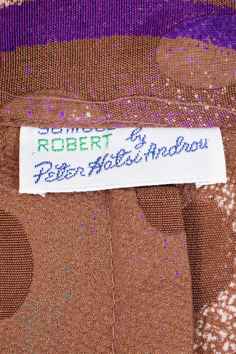 Vintage Samuel Robert by Peter Hatsi-Androu Streamer Blouse label at Recess LA