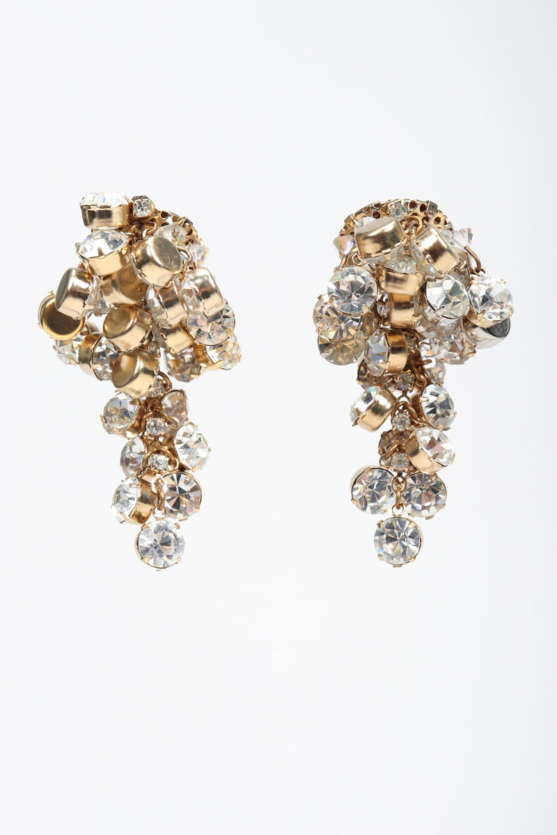 Recess Los Angeles Vintage Simone Eduoard Crystal Cluster Glitter Earrings