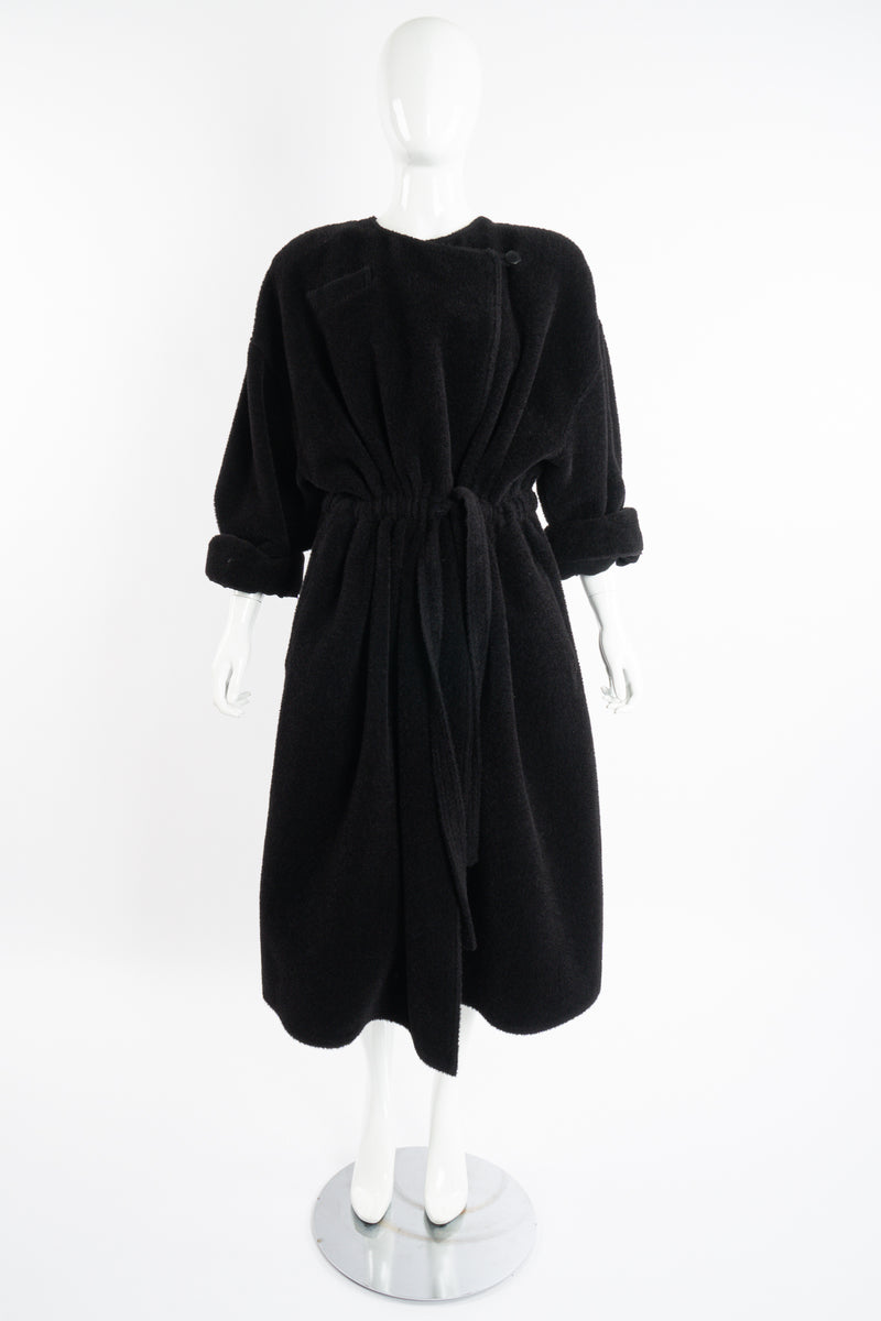 Vintage Sonia Rykiel Fuzzy Alpaca Robe Coat on Mannequin Front rolled at Recess Los Angeles