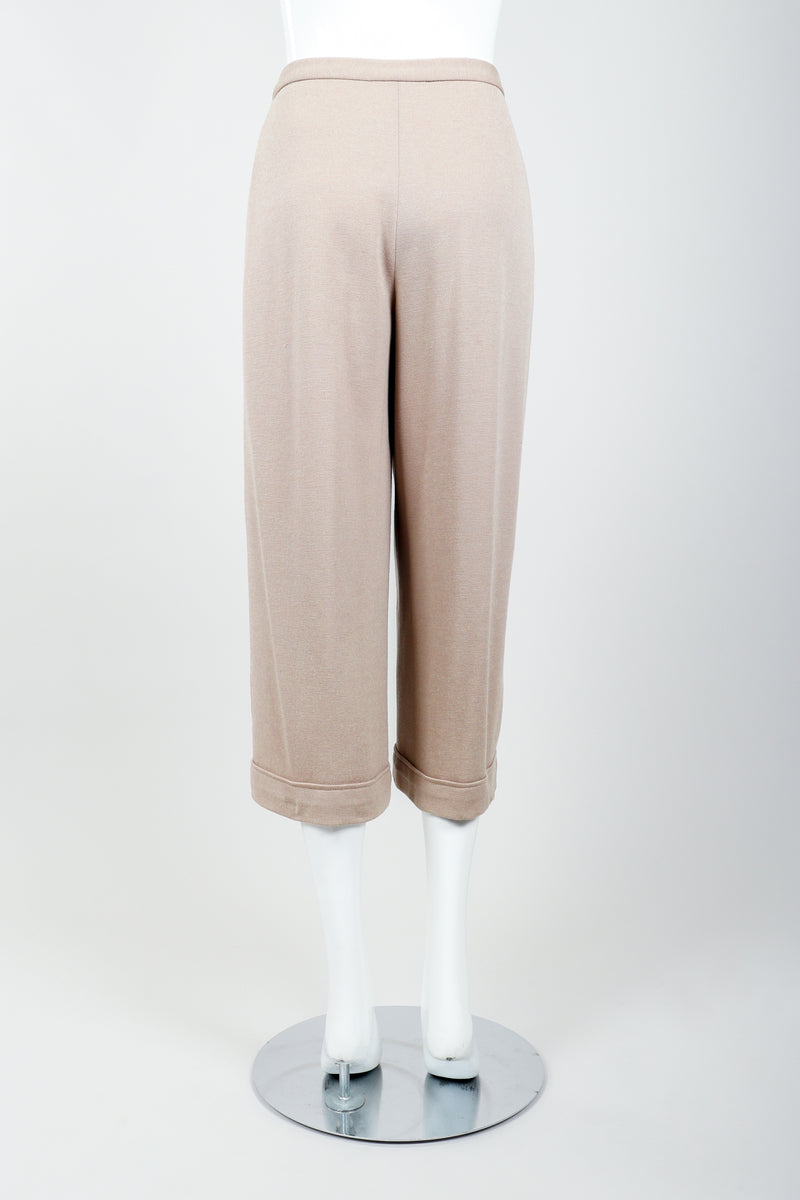 Vintage Sonia Rykiel Taupe Knit Cropped Trouser on Mannequin back at Recess