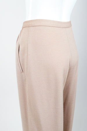 Vintage Sonia Rykiel Taupe Knit Cropped Trouser on Mannequin rear at Recess