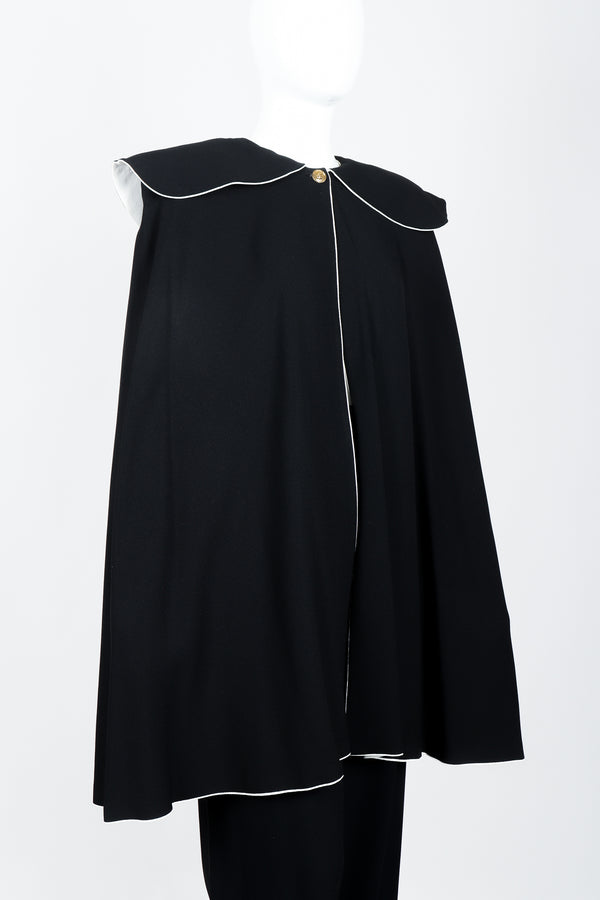Vintage Sonia Rykiel Crepe Cape & Pant Set on mannequin side crop at Recess Los Angeles