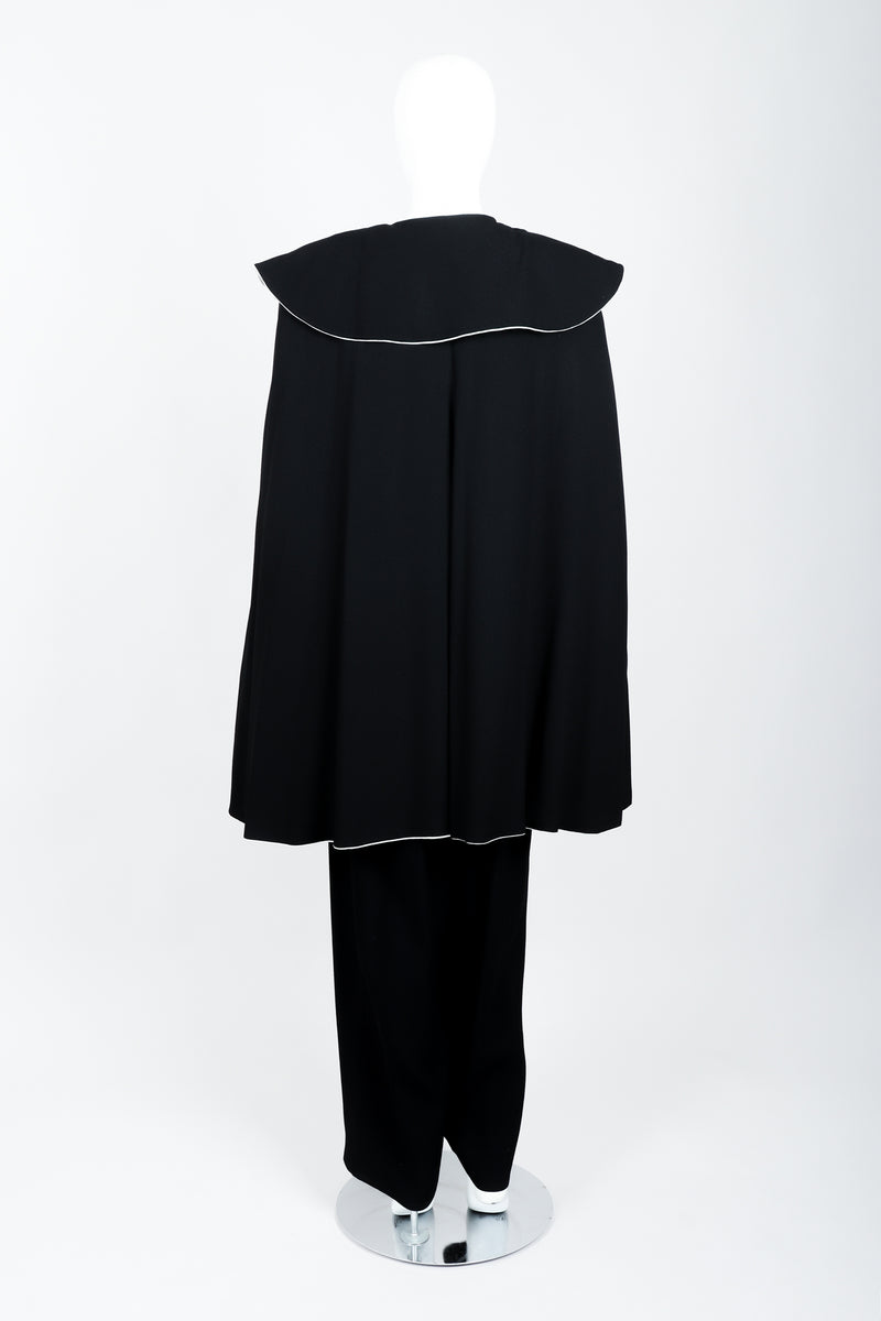 Vintage Sonia Rykiel Crepe Cape & Pant Set on mannequin back at Recess Los Angeles