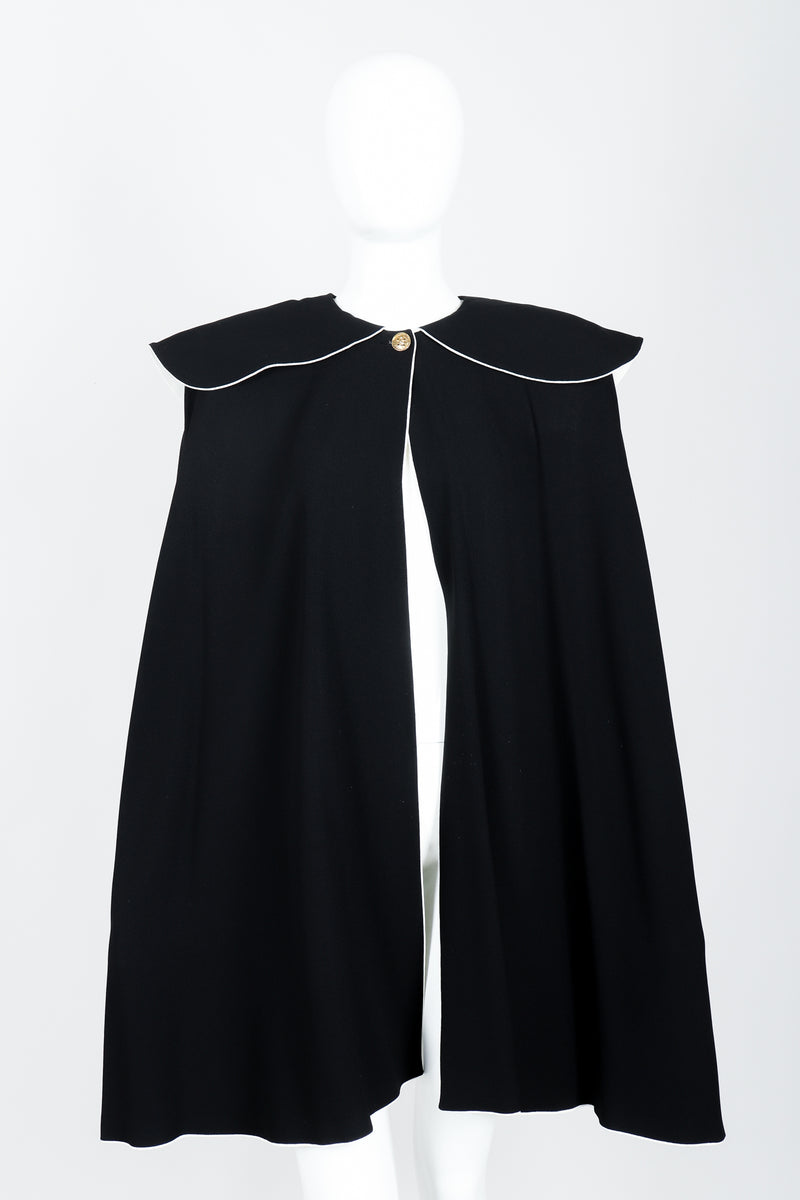 Vintage Sonia Rykiel Crepe Cape Set on mannequin front at Recess Los Angeles