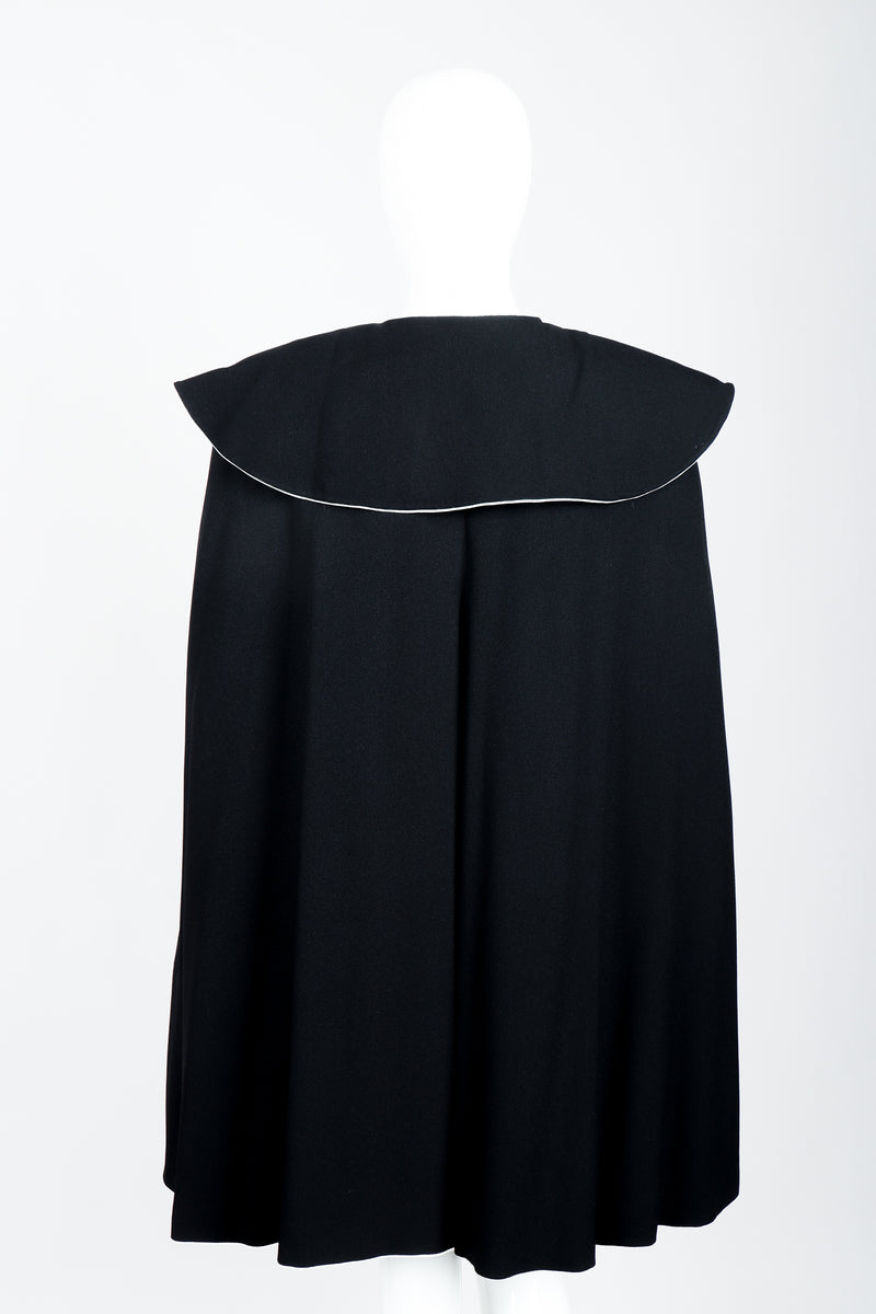 Vintage Sonia Rykiel Crepe Cape Set on mannequin back at Recess Los Angeles