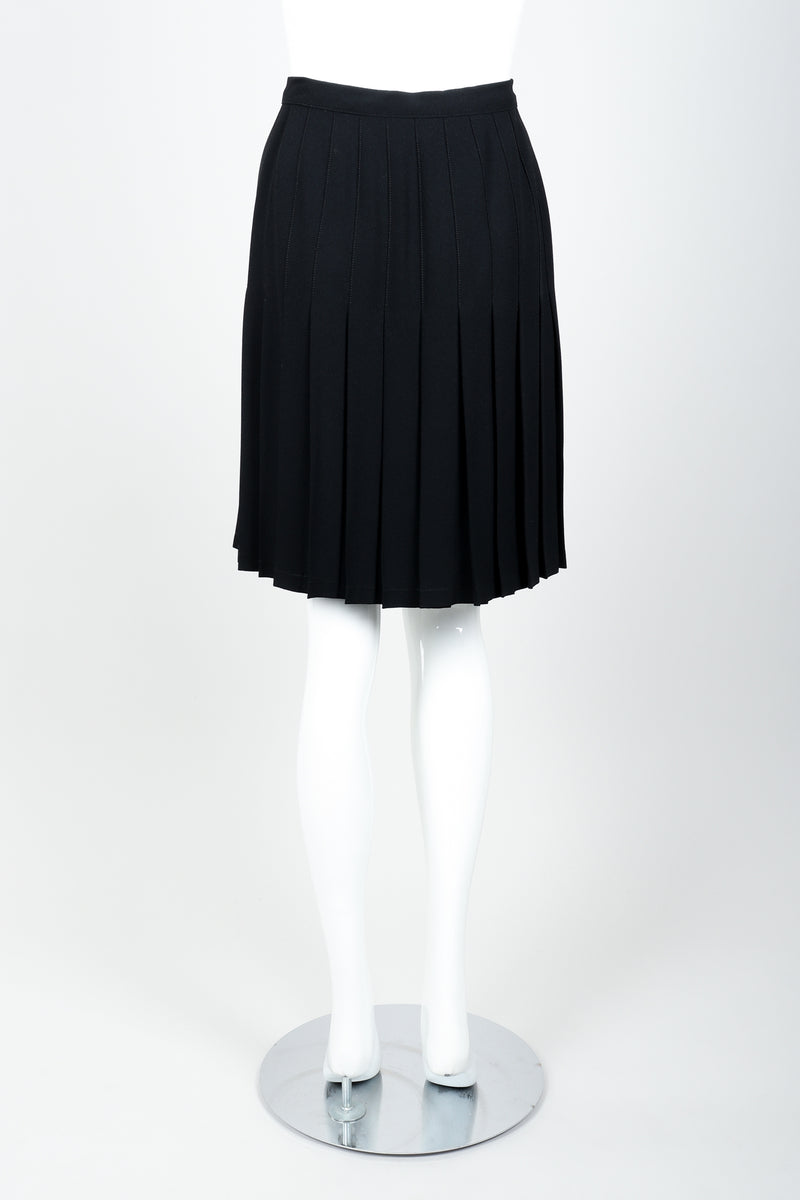 Vintage Sonia Rykiel Crepe Pleated Wrap Skirt on mannequin back at Recess