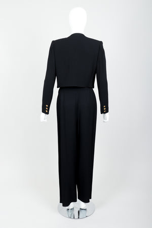 Vintage Sonia Rykiel Chanel Style Boxy Jacket & Pant Suit on Mannequin back at Recess