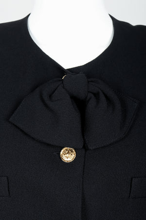 Vintage Sonia Rykiel Chanel Style Boxy Jacket Suit on Mannequin bow detail at Recess