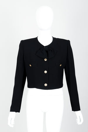 Vintage Sonia Rykiel Chanel Style Boxy Jacket Suit on Mannequin front at Recess