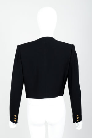Vintage Sonia Rykiel Chanel Style Boxy Jacket Suit on Mannequin back at Recess