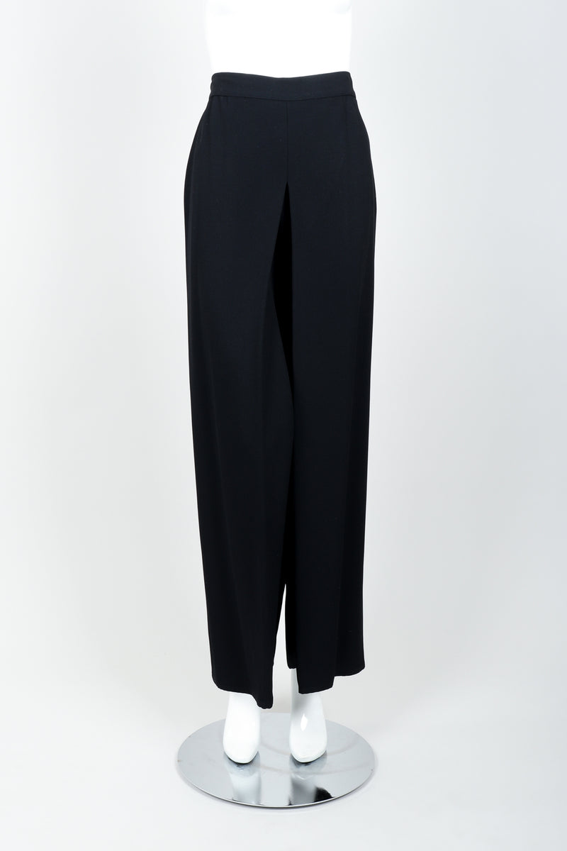 Vintage Sonia Rykiel Chanel Style Crepe Pant Suit on Mannequin front at Recess