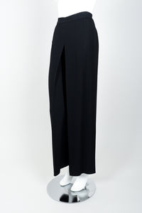 Vintage Sonia Rykiel Chanel Style Crepe Pant Suit on Mannequin side at Recess