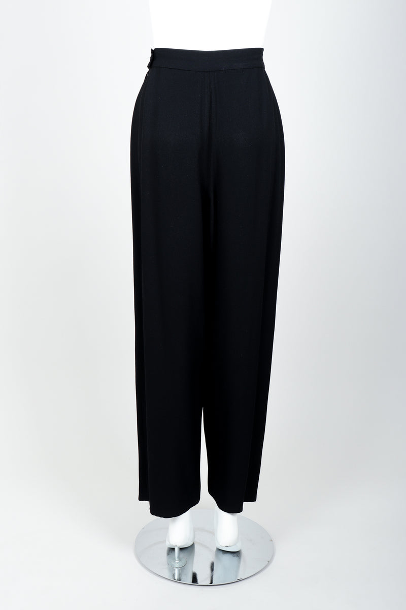 Vintage Sonia Rykiel Chanel Style Crepe Pant Suit on Mannequin back at Recess