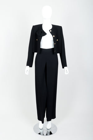 Vintage Sonia Rykiel Chanel Style Boxy Jacket & Pant Suit on Mannequin open at Recess