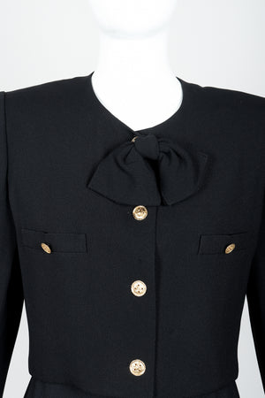 Vintage Sonia Rykiel Chanel Style Boxy Jacket & Pant Suit on Mannequin neckline at Recess