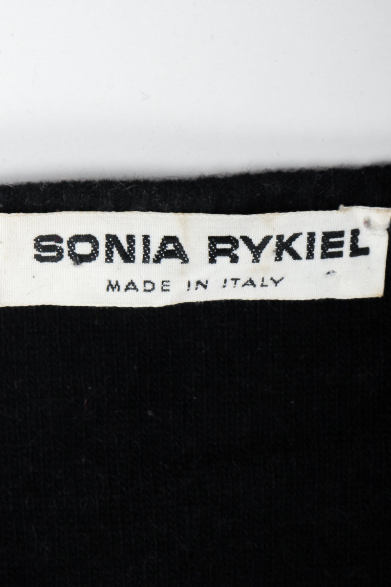 Vintage Sonia Rykiel Label on Black