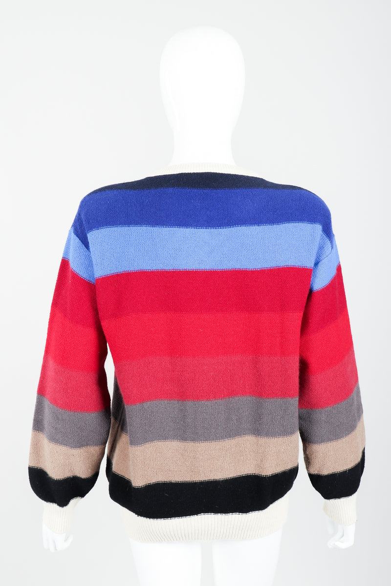 Vintage Sonia Rykiel Ombré Striped Knit Sweater on Mannequin back at Recess