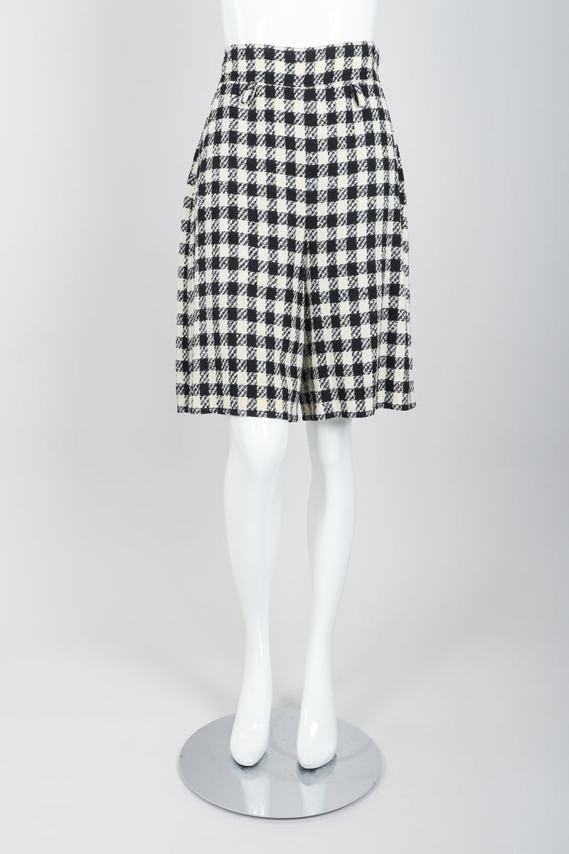 Vintage Sonia Rykiel Bouclé Checked Shorts on Mannequin Front at Recess Los Angeles