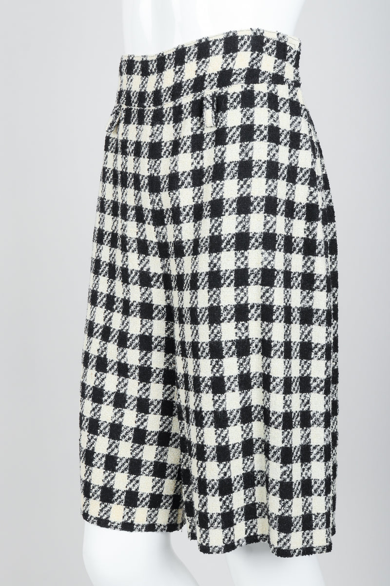 Vintage Sonia Rykiel Bouclé Checked Shorts on Mannequin angled at Recess Los Angeles