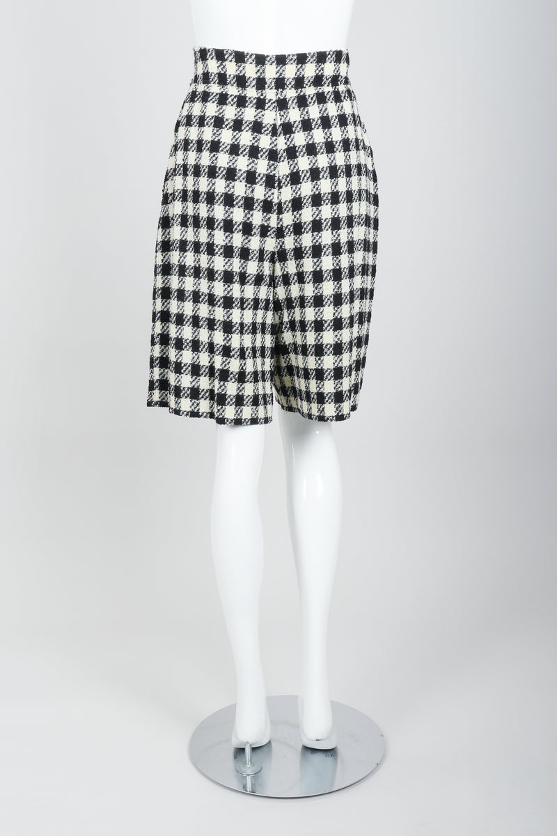 Vintage Sonia Rykiel Bouclé Checked Shorts on Mannequin Back at Recess Los Angeles