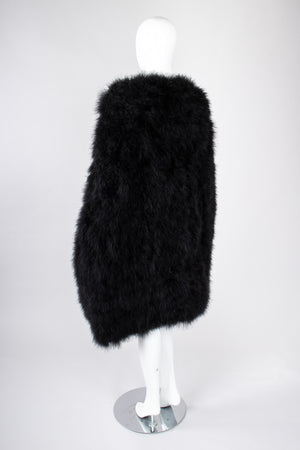 Recess Los Angeles Vintage Sonia Rykiel Long Marabou Feather Rockstar Stage Cape