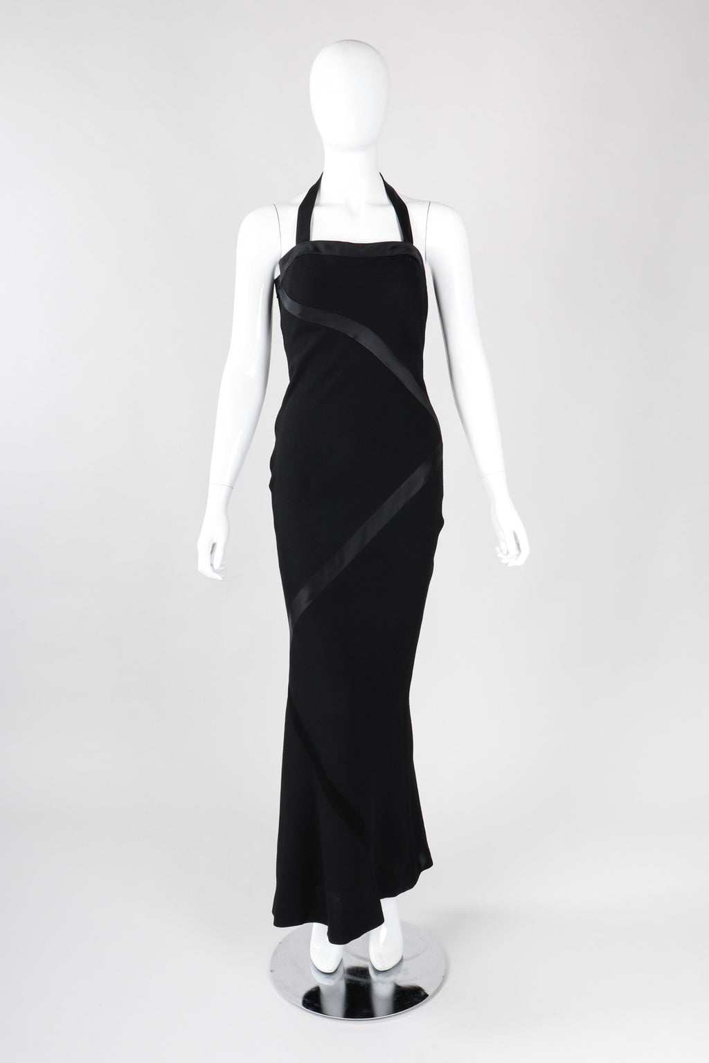 Recess Los Angeles Vintage Sonia Rykiel Minimalist 90s Bias Halter Sheath Gown
