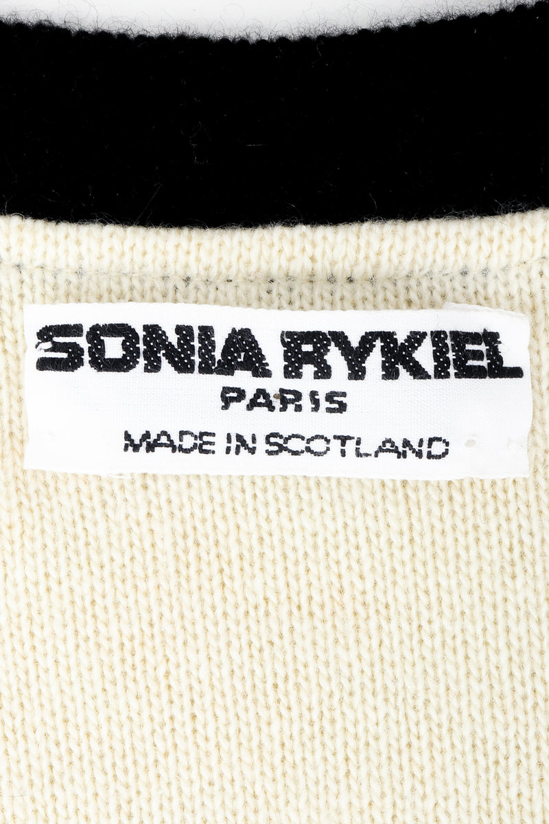 Vintage Sonia Rykiel label on cream