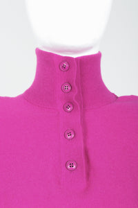 Vintage Sonia Rykiel Magenta Knit Popover Sweater on Mannequin Neck Detail at Recess
