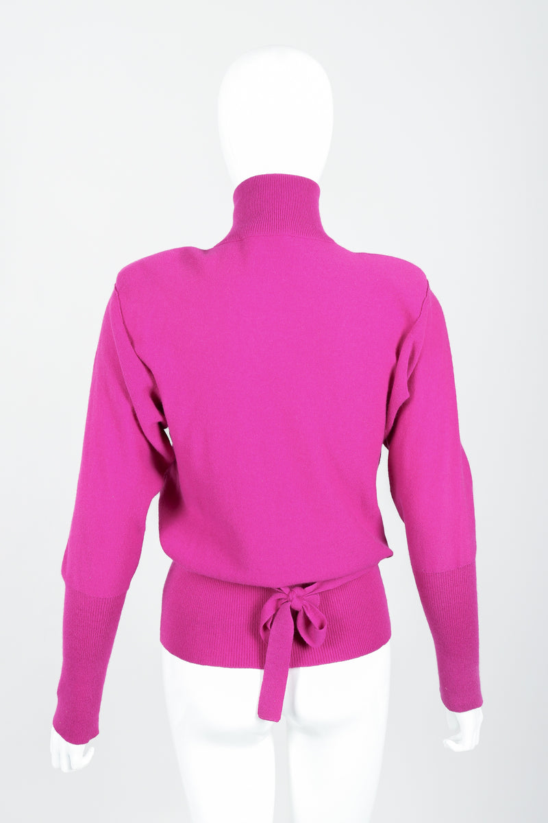 Vintage Sonia Rykiel Magenta Knit Popover Sweater on Mannequin Back at Recess