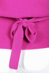 Vintage Sonia Rykiel Magenta Knit Popover Sweater on Mannequin Waist Tie at Recess