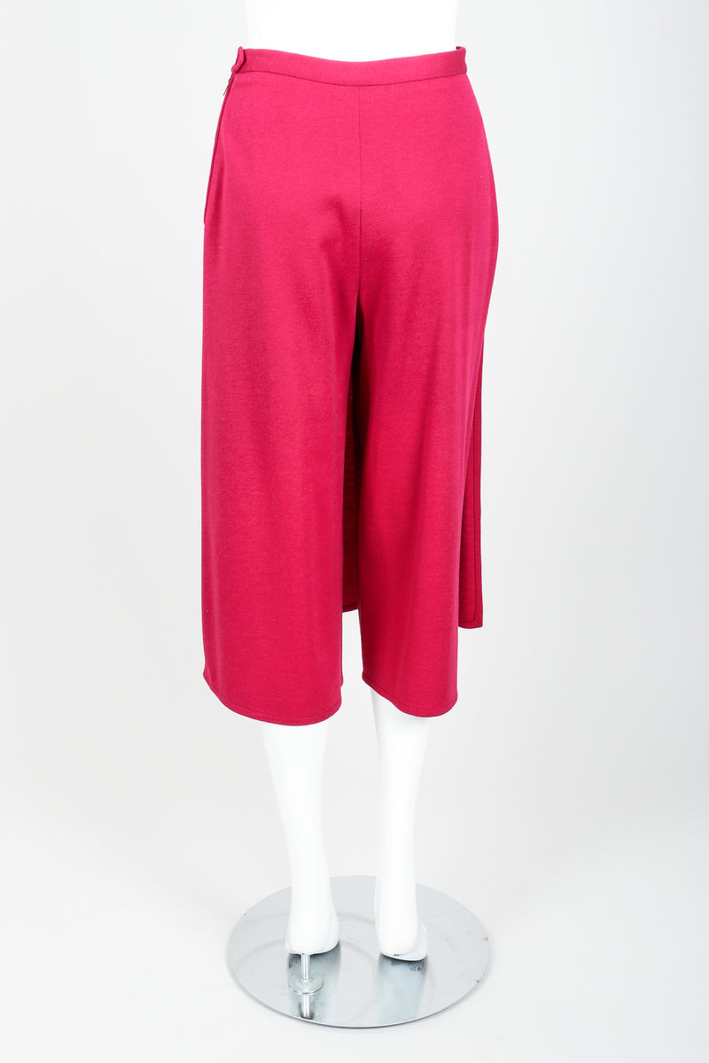Vintage Sonia Rykiel Magenta Knit Panel Skort Set on Mannequin back at Recess