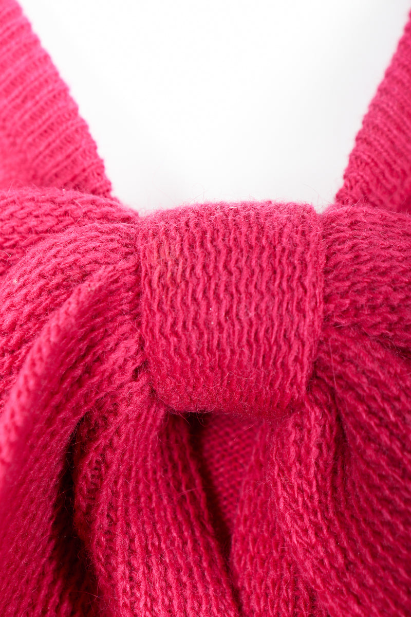 Vintage Sonia Rykiel Magenta Knit sweater set discoloration on bow