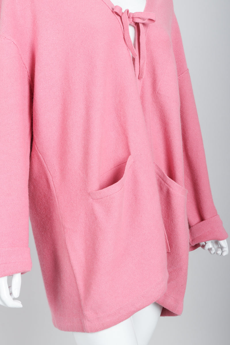 Vintage Sonia Rykiel Pink Knit Cocoon Cardigan on Mannequin crop at Recess