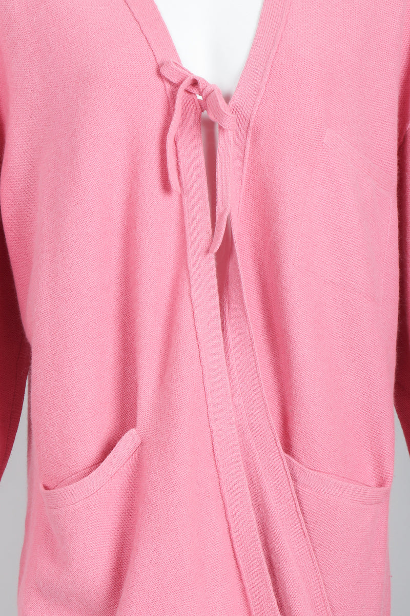 Vintage Sonia Rykiel Pink Knit Cocoon Cardigan on Mannequin Front detail at Recess