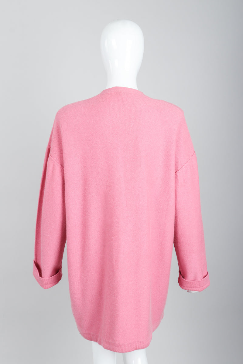 Vintage Sonia Rykiel Pink Knit Cocoon Cardigan on Mannequin back at Recess