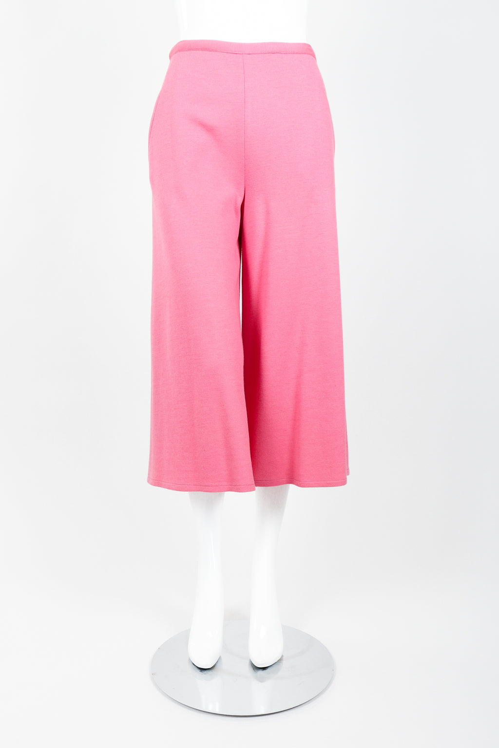 Vintage Sonia Rykiel Pink Knit Gaucho Pant on Mannequin Front at Recess Los Angeles