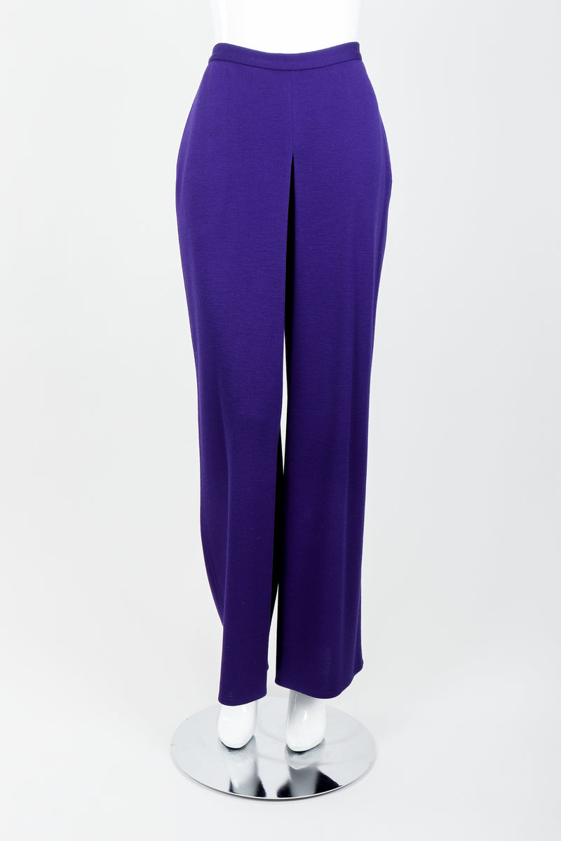 Vintage Sonia Rykiel Purple Knit Relaxed Straight Pant on mannequin front at Recess