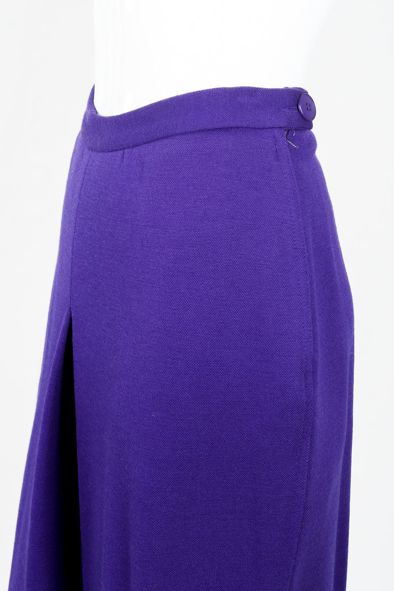 Vintage Sonia Rykiel Purple Knit Relaxed Straight Pant on mannequin waistline at Recess