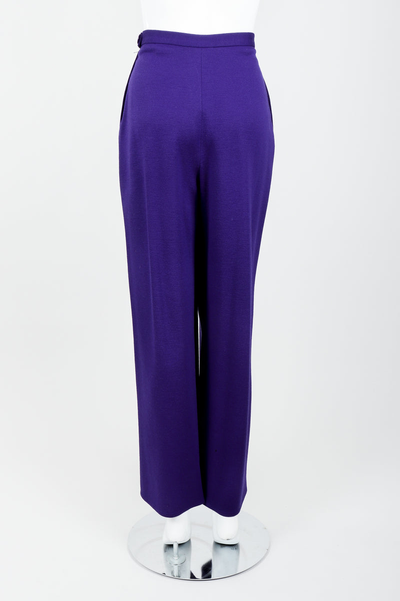 Vintage Sonia Rykiel Purple Knit Relaxed Straight Pant on mannequin back at Recess