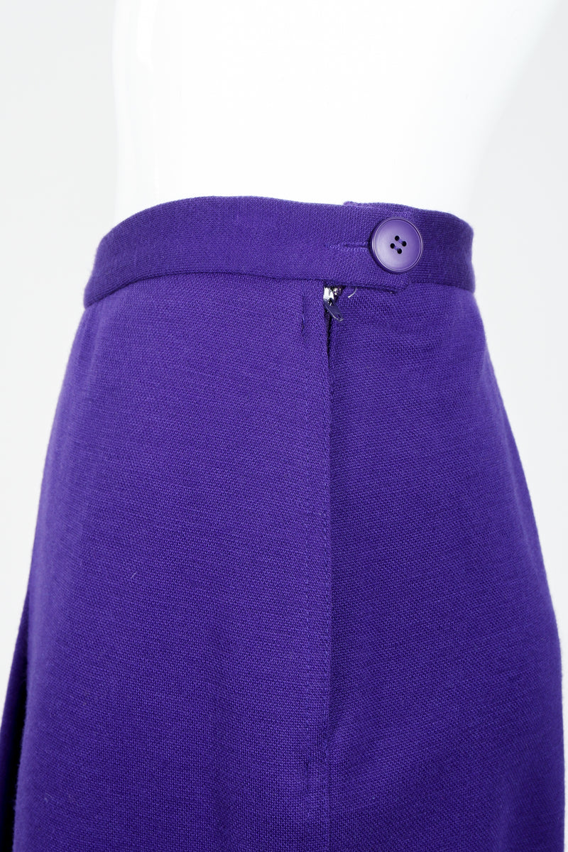 Vintage Sonia Rykiel Purple Knit Relaxed Straight Pant zipper closure