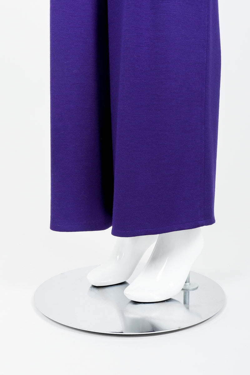 Vintage Sonia Rykiel Purple Knit Relaxed Straight Pant on mannequin leg opening at Recess