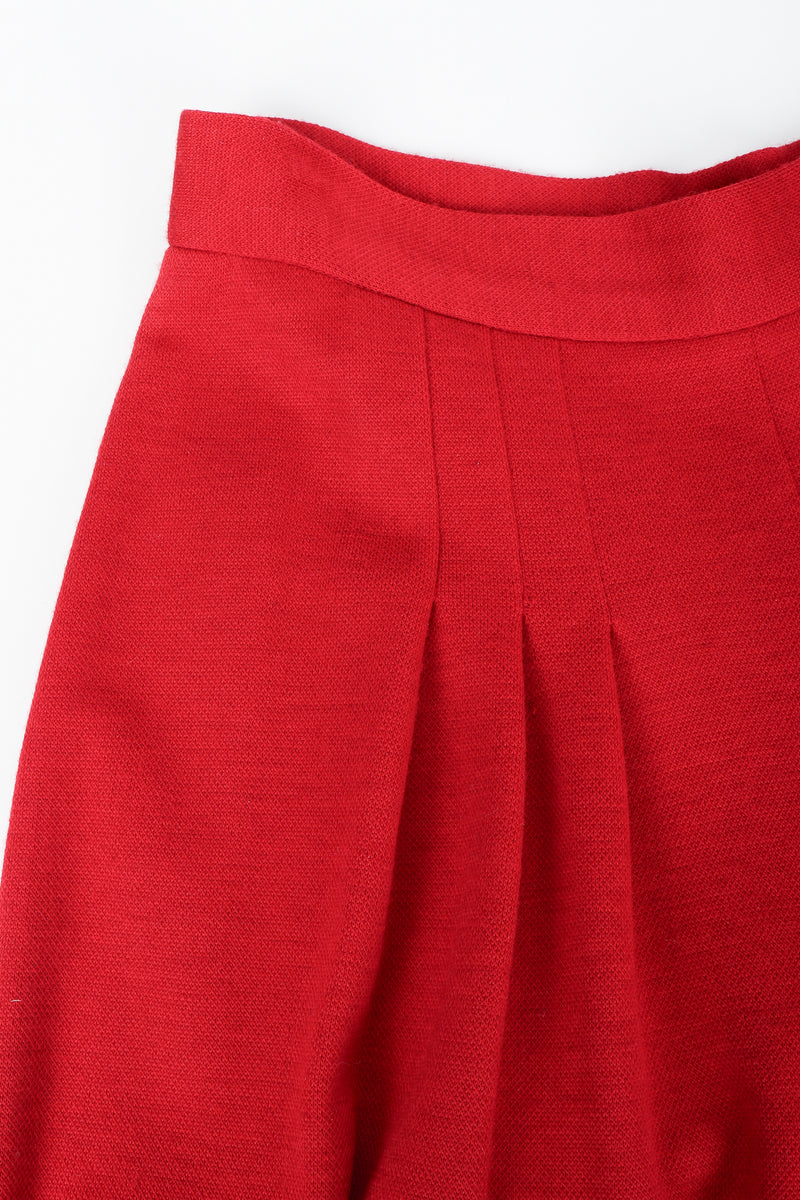 Vintage Sonia Rykiel Red Knit Pant Set Waist Pleat Detail at Recess