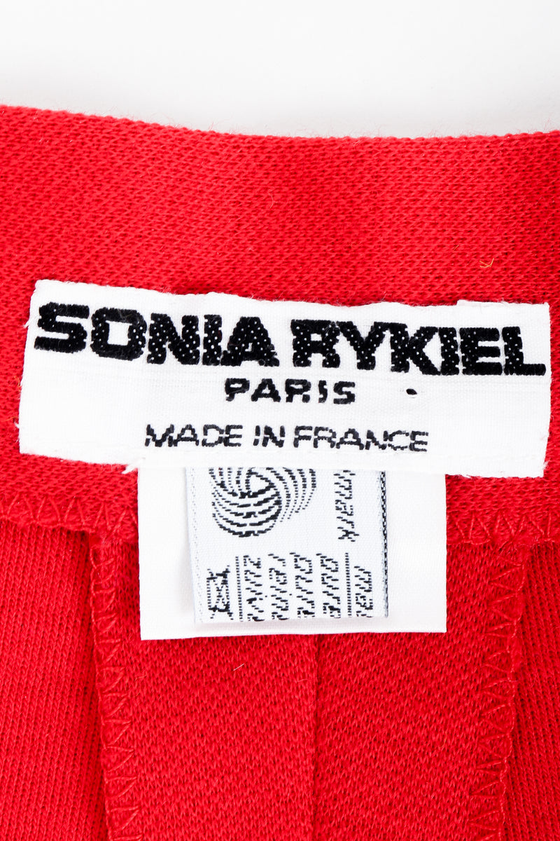 Vintage Sonia Rykiel label on red