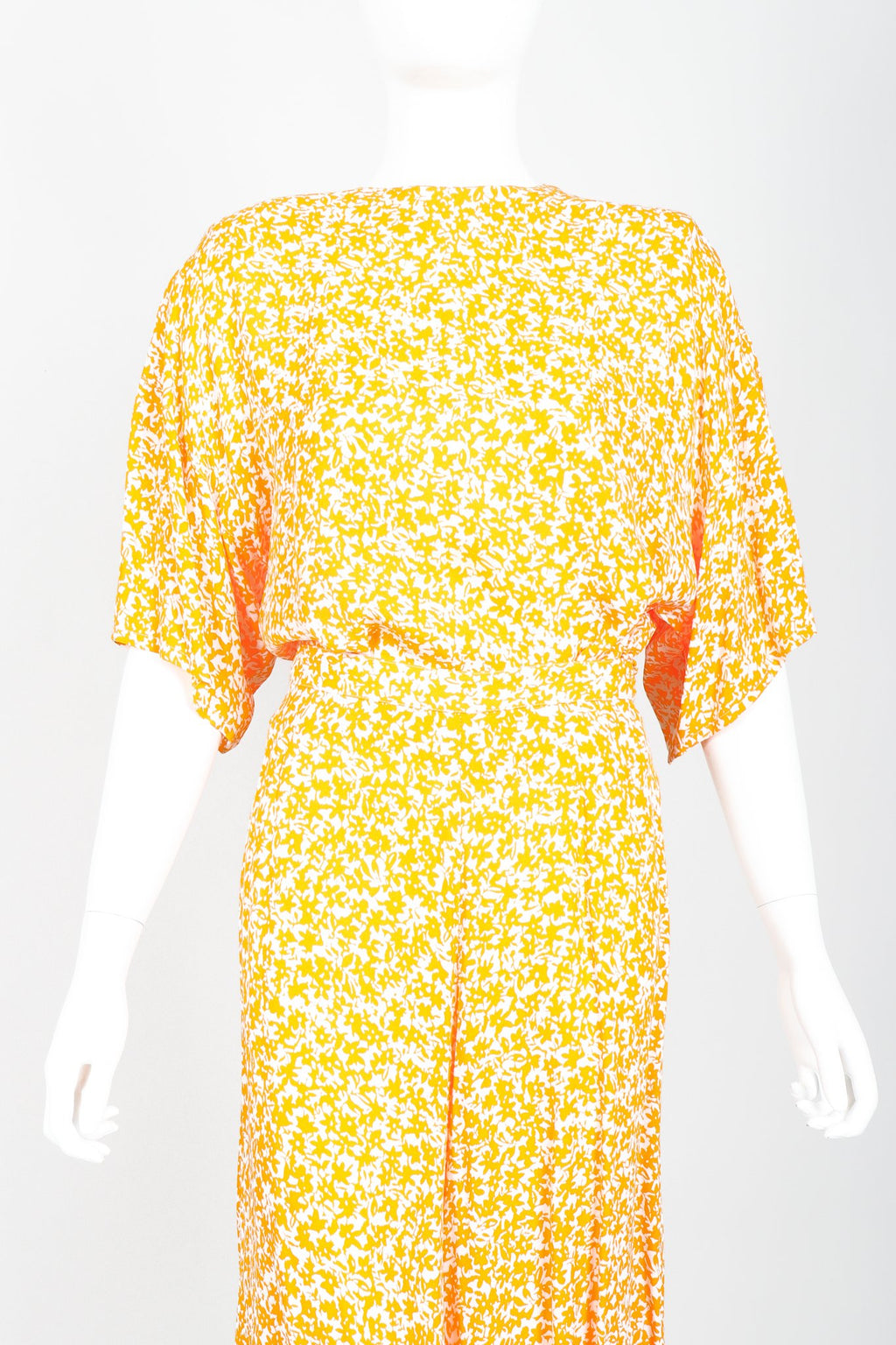 Vintage Sonia Rykiel Graphic Floral Boxy Top and Culotte Set Front Tucked in Crop at Recess