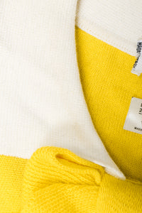 Vintage Sonia Rykiel Yellow Bow Collared Swing Sweater Collar discoloration